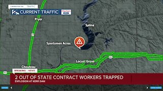 2 out of state contract workers trapped after explosion at Kerr Dam