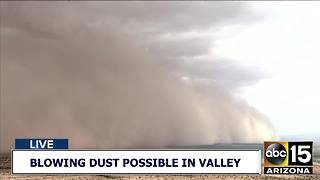 Ai15 tracking wall of dust in the Maricopa area - Video