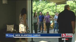 Glamping cabins at Platte River State Park