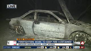 Firefighters working to contain Fort Myers fire - Video