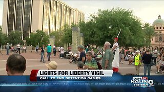 Lights for liberty vigil held to end detention camps