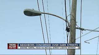 Tampa neighborhood says lack of lighting is inviting in crime - Video