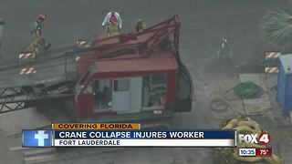 Crane falls on worker at Florida construction site