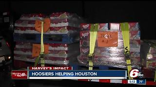 Brownsburg police, Juncos partner to deliver items to Hurricane Harvey victims - Video