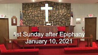 1st Sunday after Epiphany Worship - January 10, 2021