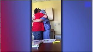 Marine Surprises Mother During Chemotherapy After Being Two Years Apart - Video