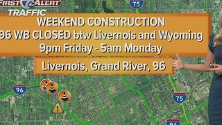 Weekend freeway closure - Video
