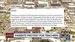 Parents protest for teachers over weekend - Video