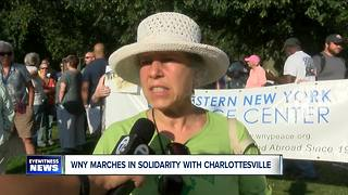 WNY rallies in support of Charlottesville - Video