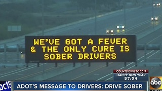 ADOT reminding people to drive sober with witty signs - Video