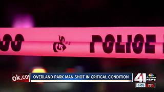Overland Park man shot in head in critical condition - Video