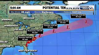 Disturbance off Florida coast could become Tropical Storm Irma - Video