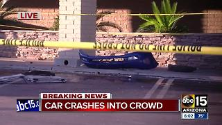 Three people hurt after car plows into crowd near 43rd Avenue and Thunderbird - Video