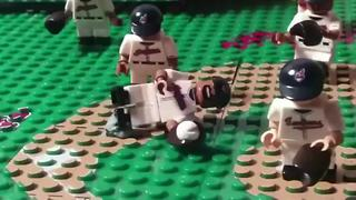 Indians fan creates stop-motion video of team's biggest plays using minifigures - Video