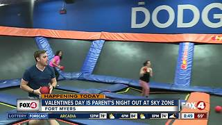 Valentines Day is Parents Night Out at Sky Zone Fort Myers - 8:30am live report - Video