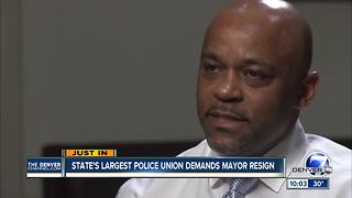 Police union calls on Denver Mayor Michael Hancock to resign amid harassment allegations - Video
