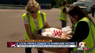 Locals donate to hurricane victims - Video
