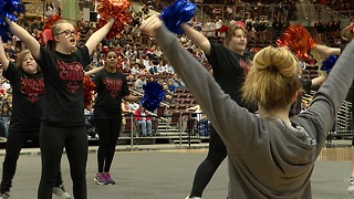 Boise State Spirit Squad Helps Special Olympic Cheer Team - Video