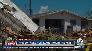 Man rides out Irma in Big Pine Key - Video
