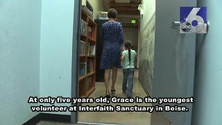 Interfaith Sanctuary's youngest volunteer - Video