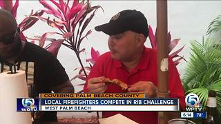Local firefighters compete in rib challenge - Video