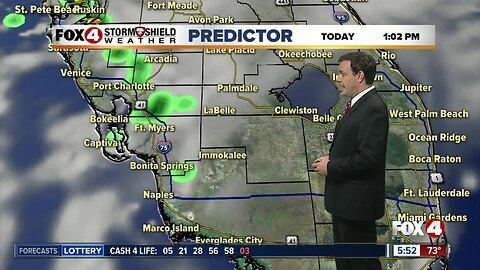 Forecast: A change in our weather pattern today with morning coastal showers expected