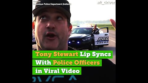 Tony Stewart Lip Syncs With Police Officers in Viral Video