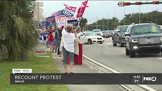Voters protest ballot count