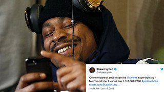 Marshawn Lynch Gets Bombarded with Calls After Giving Out His Phone Number - Video