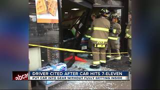 Driver cited after crashing into 7-Eleven in Pasco County - Video