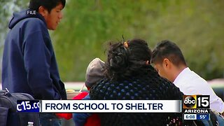 From school to shelter