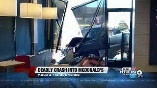 Woman dies after car crashes into McDonald's at Tanque Verde and Kolb - Video