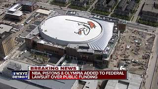 Pistons added to federal lawsuit over arena funding