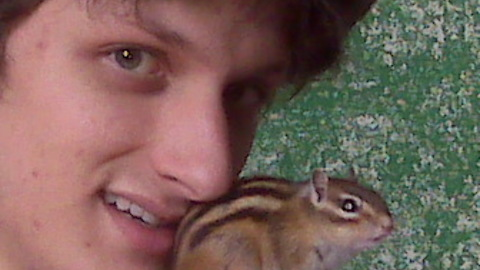 Look At the Intense Bond Between A Boy And His Baby Siberian Chipmunk, Flower