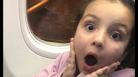 Girls Adorable Reaction to Flying for the First Time