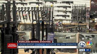Local gun shop owner and the gun debate - Video