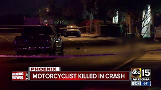 Man killed in Phoenix motorcycle crash - Video