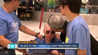First commercial flight from Puerto Rico - Video