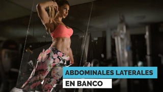 Abdominales laterales en banco - Video
