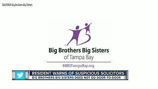 Resident warns of suspicious solicitors claiming to be Big Brothers Big Sisters - Video