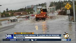 Flooding along Highway 78 - Video