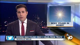 Missing man found dead 4 miles from truck - Video