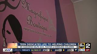 Teen dedicates life to helping children - Video