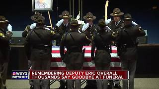 Thousands gather for funeral of fallen Oakland County Deputy Eric Overall - Video