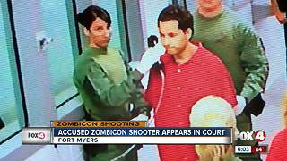 Accused Zombicon shooter appears in court