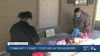 Muskogee community comes together after murders