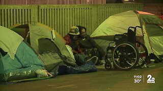 COVID and colder temps leave people in homeless encampment with little options
