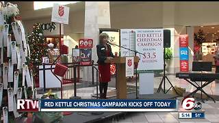 Salvation Army hopes to raise $3.5M in red kettle Christmas campaign - Video