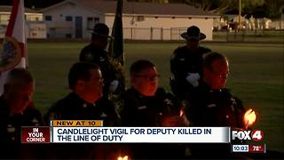Candlelight vigil for deputy killed in the line of duty - Video