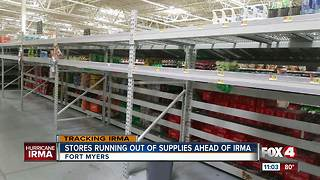 Stores running out of hurricane supplies - Video
